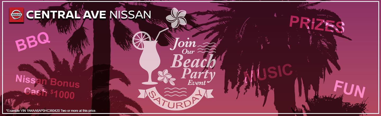 Central Ave Beach Party Invite