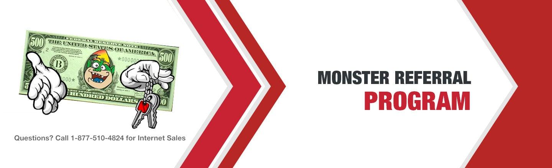 Monster Referral Program - Toyota and Scion Dealership Near Sterling