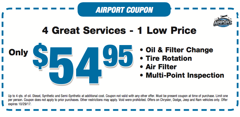 Midway jeep oil change coupon