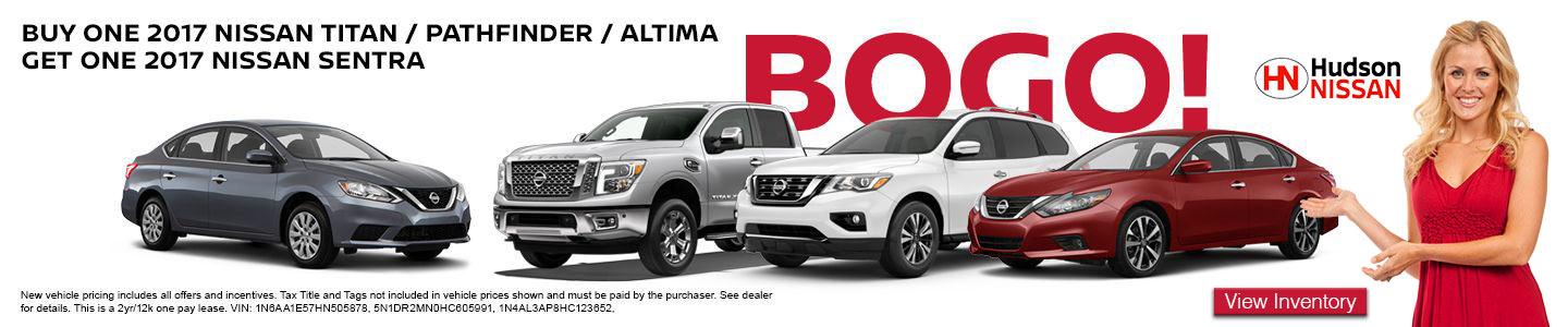 Buy One Get One America's Best Sales Event at Hudson Nissan in North Charleston, SC