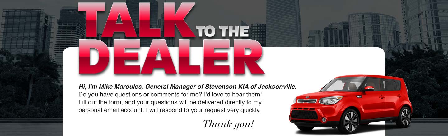 Stevenson KIA of Jacksonville Talk to the Dealer