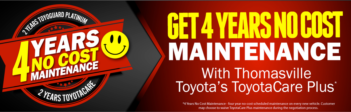 4 Year No Charge Toyota Maintenance Plan Thomasville Toyota