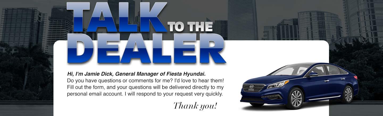 Fiesta Hyundai Talk to Dealer