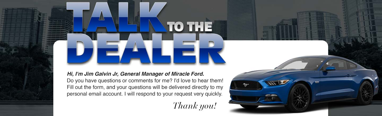 Talk to dealer
