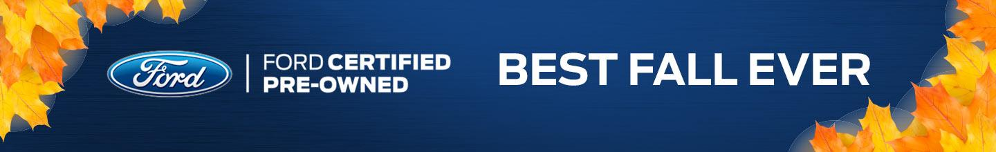 "Ford Certified Pre-Owned ""Best Fall Ever"" Sales Event"