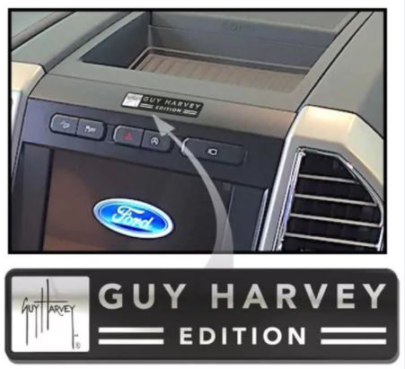 Custom Guy Harvey edition badging exterior and interior emblems with 3 exterior and 1 interior   badges