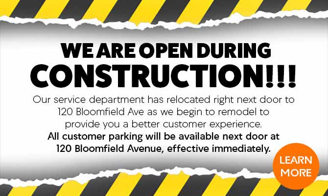 Open during construction at DCH Montclair Acura