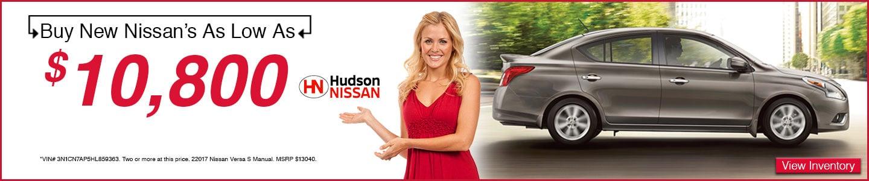 2017 Nissan Versa at Hudson Nissan in North Charleston, SC