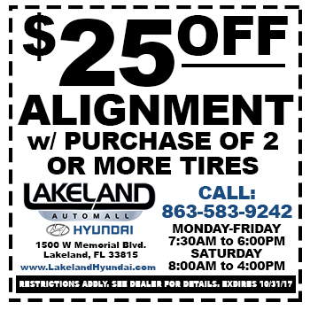 $25 OFF Alignment with Purcahse of 2 or more Tires