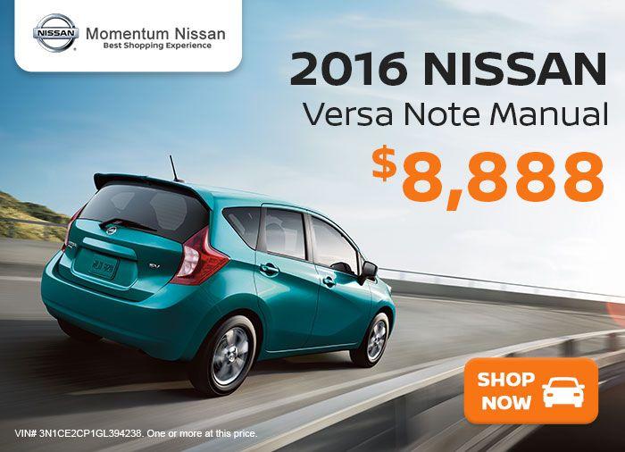 Versa Note at Momentum Nissan
