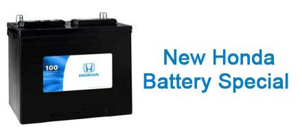 Genuine Honda Battery Installed