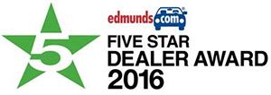 Edmunds 5 Star Dealer Award