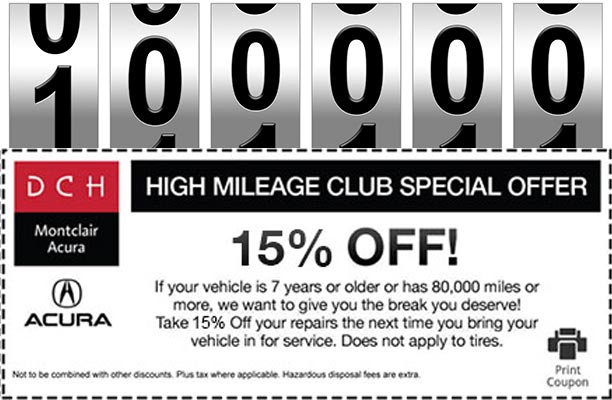 Acura Service Specials Oil Change Coupon And Offers DCH Montclair - Acura coupons oil change