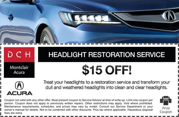Acura Service Specials Oil Change Coupon And Offers Dch Montclair