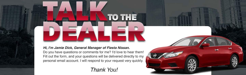 Fiesta Nissan Talk to Dealer