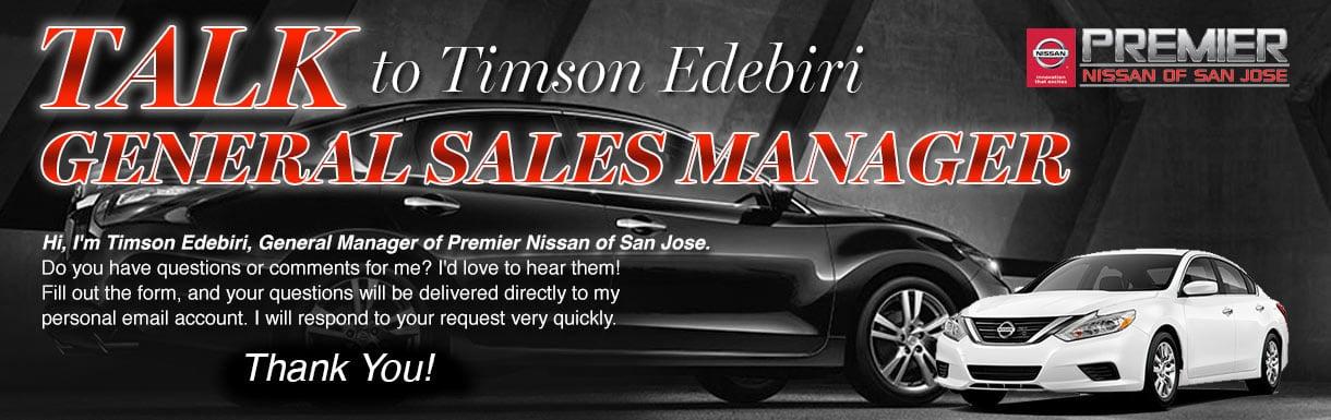 Nissan San Jose >> Talk To The Dealer Premier Nissan Of San Jose