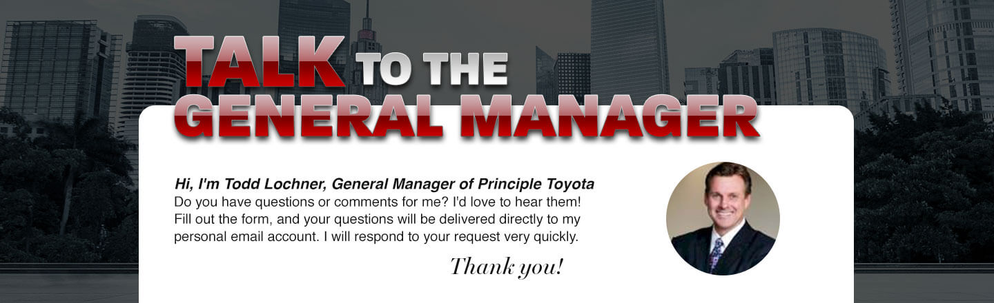 Principle Toyota of Memphis, talk to the general manager