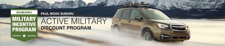 Paul Moak Subaru Military Discount Program