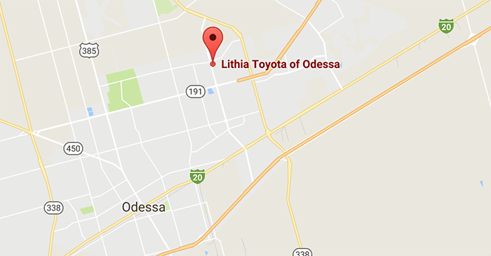 Directions to Lithia Toyota of Odessa Dealership in Odessa Texas