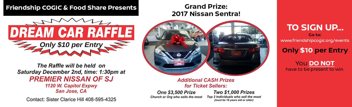 Join Us For Our Dream Car Raffle Event In San Jose, CA