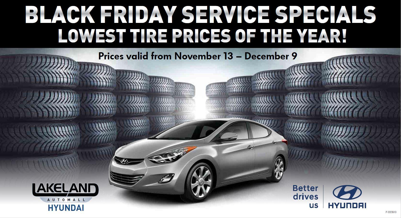 Black Friday Service Specials at Lakeland Hyundai