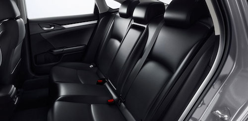 2018 Honda Civic rear seats