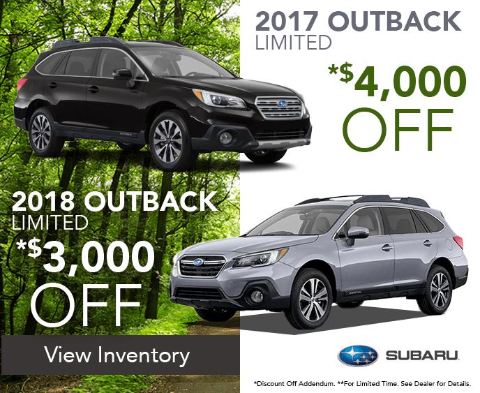 Subaru Outback Sales at Jim Burke