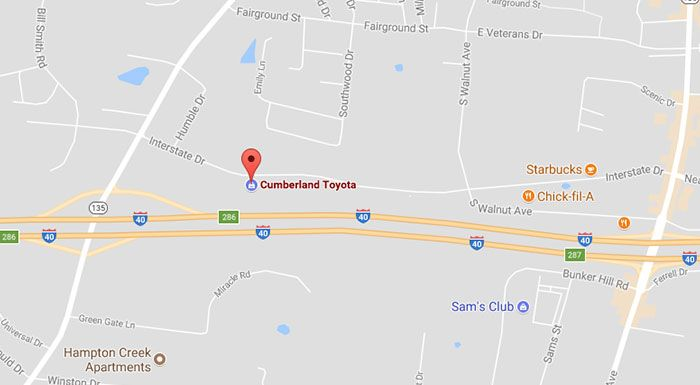 Toyota Dealership In Cookeville Tn Cumberland Toyota - Toyota-map-updates-us
