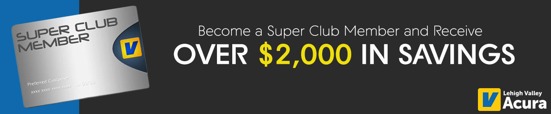 Acura Super Club memember information