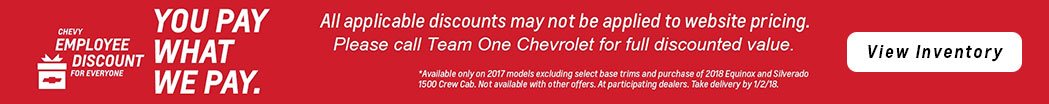 Chevy Employee Discount for Everyone