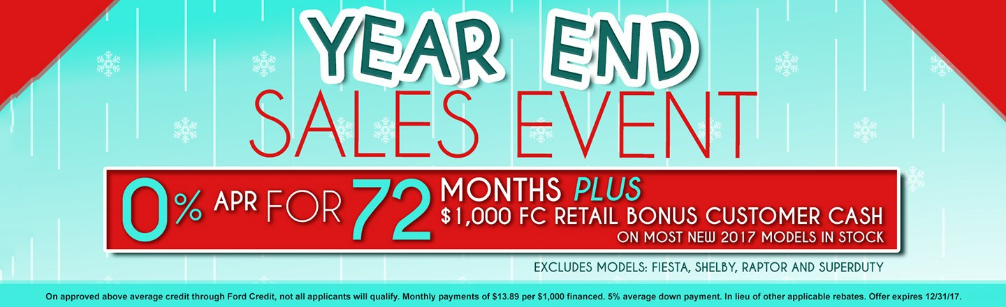Year End Sales Event at Gosch Ford