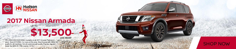 2017 Nissan Armada America's Best Sales Event at Hudson Nissan in North Charleston, SC