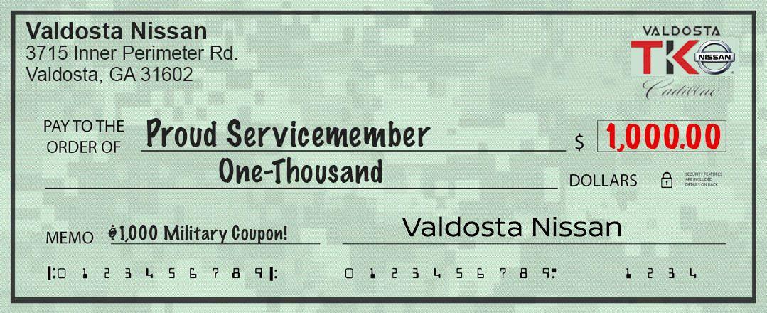 Valdosta Nissan Military Coupon