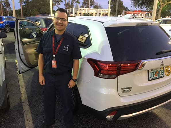 Happy customer at sarasota mitsubishi