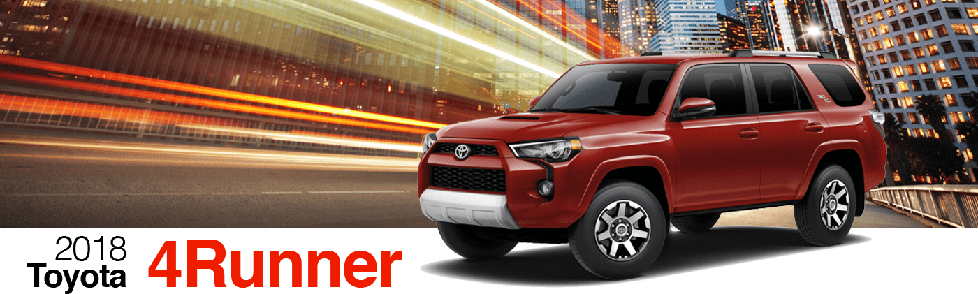 2018 Red Exterior 4Runner On Road at Fairfield Toyota