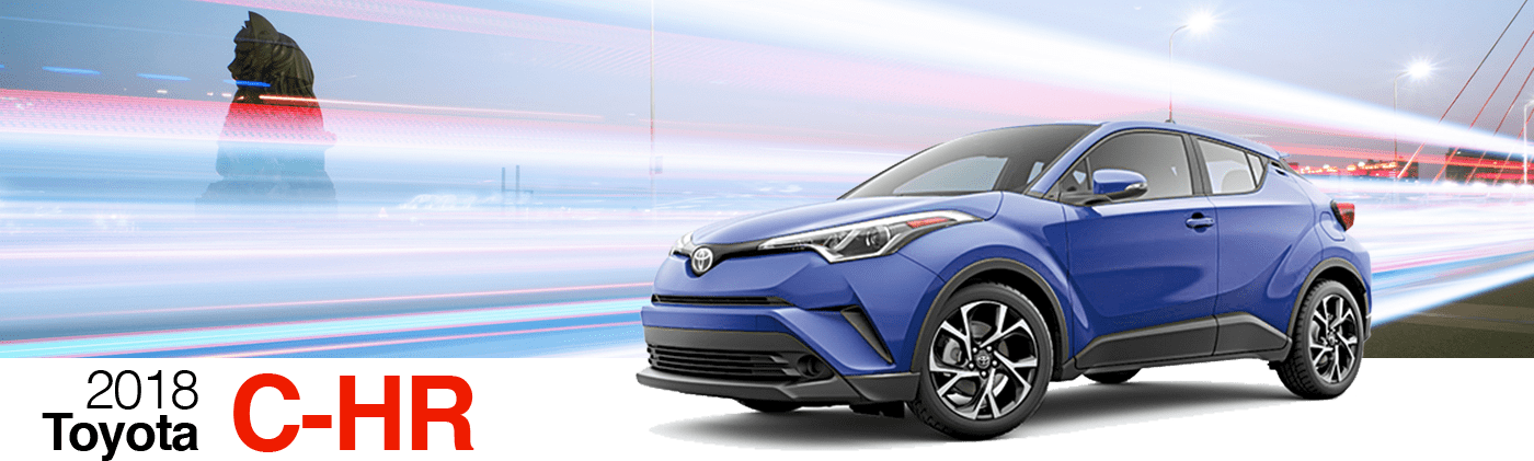 2018 Blue Exterior C-HR On Road at Fairfield Toyota