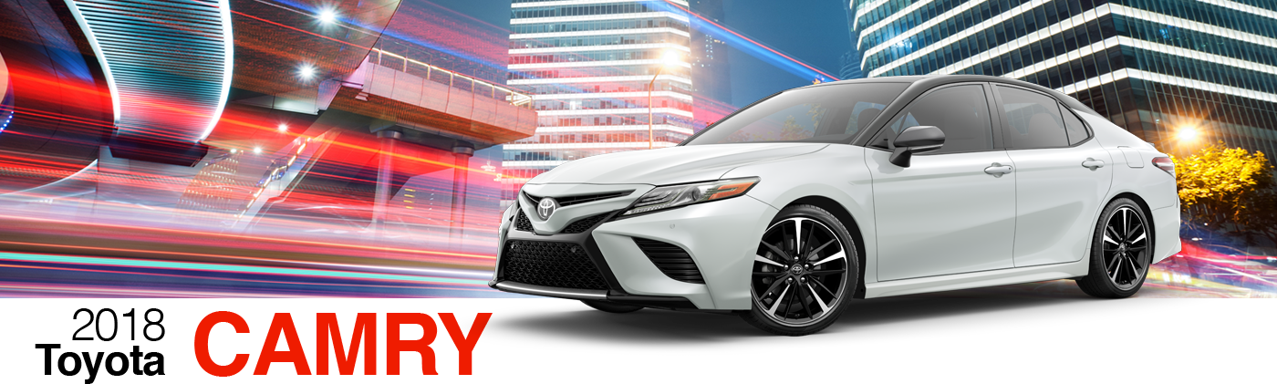 2018 White Exterior Camry On Road at Fairfield Toyota