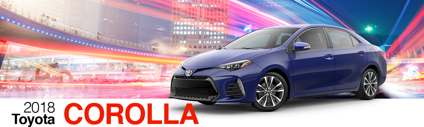 2018 Blue Exterior Corolla On Road at Fairfield Toyota