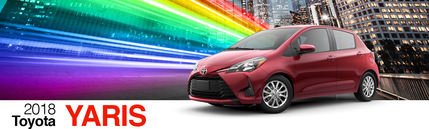 2018 Red Exterior Yaris On Road at Fairfield Toyota