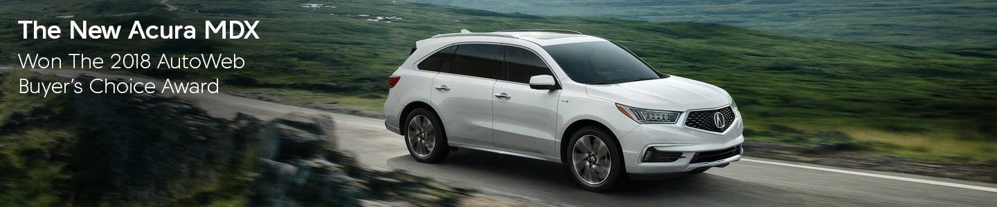 2018 Acura MDX, won the AutoWeb Buyer's Choice Award