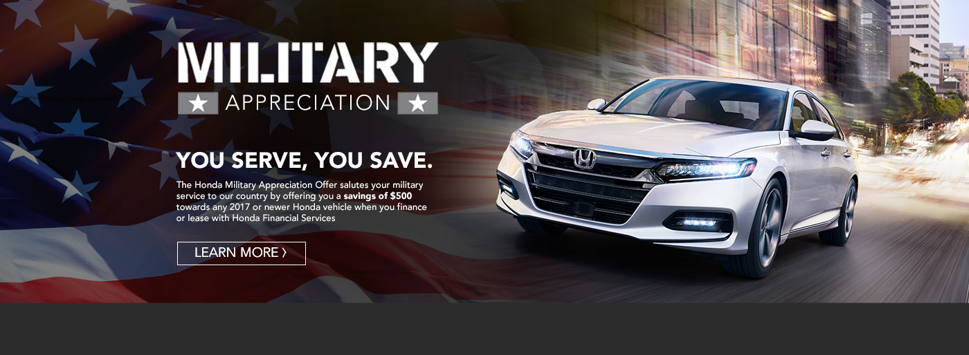 Honda Military Discount Program | Motorcars Honda