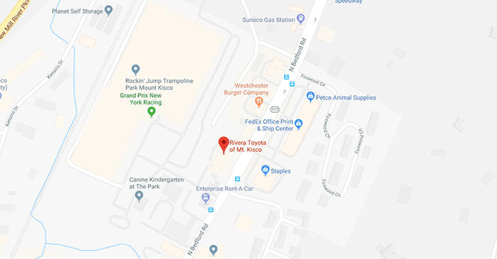 Map showing Rivera Toyota location