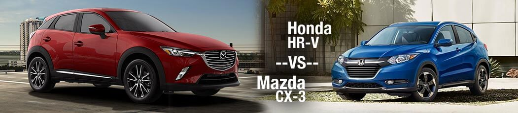 2018 Honda HR-V vs. 2018 Mazda CX-3