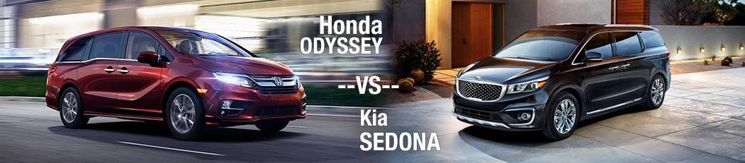 2018 Honda Odyssey Vs. 2018 Kia Sedona