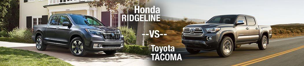 2018 Honda Ridgeline vs. 2018 Toyota Tacoma