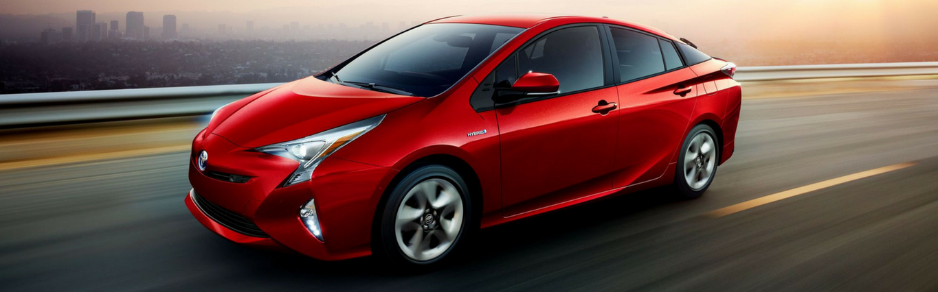 The new 2018 Toyota Prius hybrid vehicle, available now at Capital Toyota in Chattanooga, Tennessee