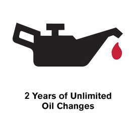 2 Years of Unlimited Oil Changes