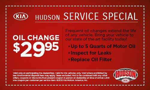 coupons for oil change at kia dealership