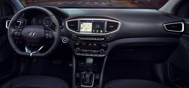 Interior of 2018 Hyundai Ioniq Hybrid