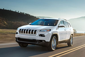 2018 Jeep Cherokee on the open road